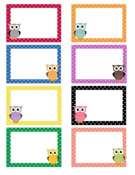 printable owl name tags polka dot owl labels blank owl labels and owl