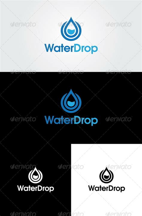 logo portfolio template water drop logo template by glaxa graphicriver