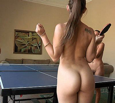 Sexy Girls Full Nude Playing Ping Pong Public Juicygif Com