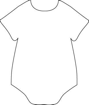 printable onesie template onesie black white free images at clker vector