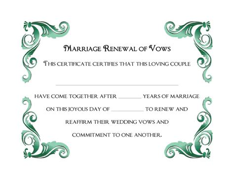 wedding vows template 9 best images about souvenir wedding commitment