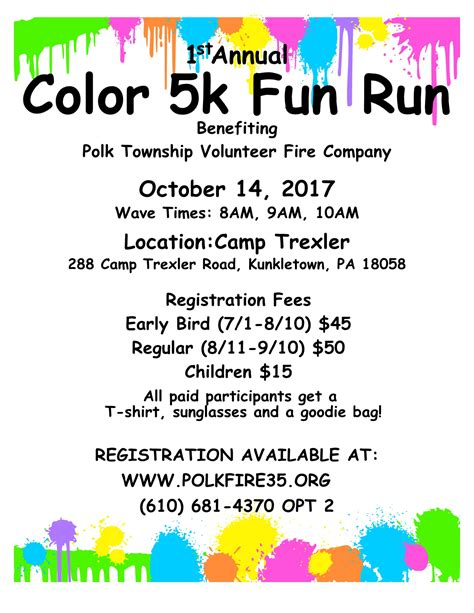 Color Run Flyer Template