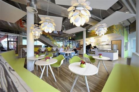 Office Space Restaurant Minimal Decor And Colorful Unilever Office In Switzerland