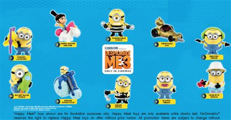 Happy Meal Despicable Me3 get a free despicable me 3 with every happy meal purchased from 1 jun 5 jul 17