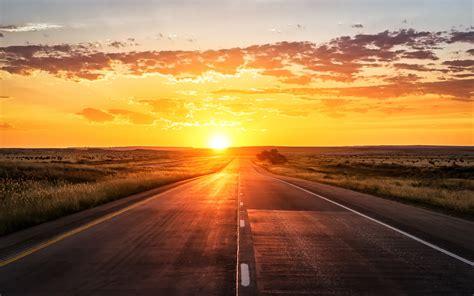 wallpaperscraft 4k wallpaper sunset highway 4k world 5557