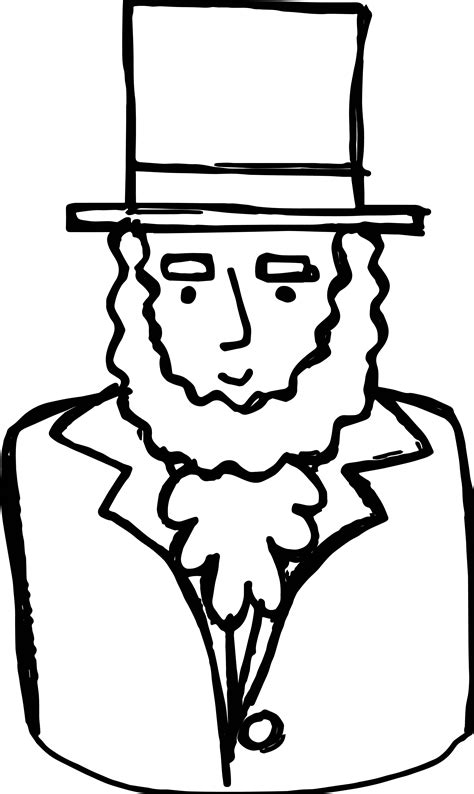 abraham lincoln president coloring page wecoloringpage
