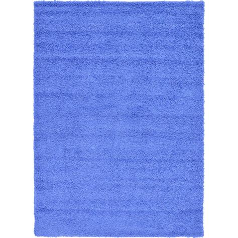 periwinkle rug unique loom solid shag periwinkle blue 7 ft x 10 ft area rug 3127835 the home depot