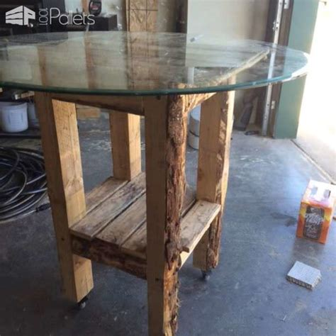 bar table made out of recycled pallets pallet ideas