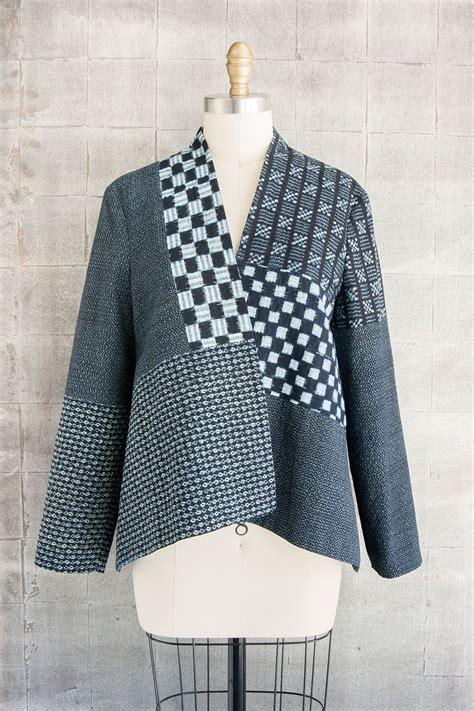 Jaket Mix Line checker jacket in indigo mix louise cutting cutting