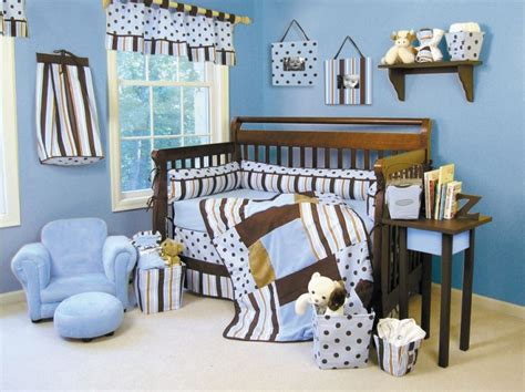 Blue And Brown Crib Bedding Excited Brown And Blue Bedding For Nursery Atzine