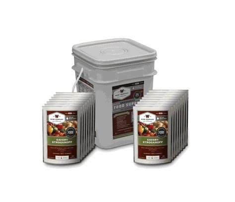 25 Year Shelf Food by Wise 60 Serving Grab And Go Food Kit 25 Year Shelf