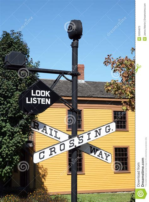vintage railroad crossing gate signal shed building 6 x 8 vintage railroad crossing sign with building in background