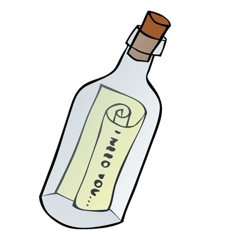 Botol School message in a bottle clipart pirate theme teaching school