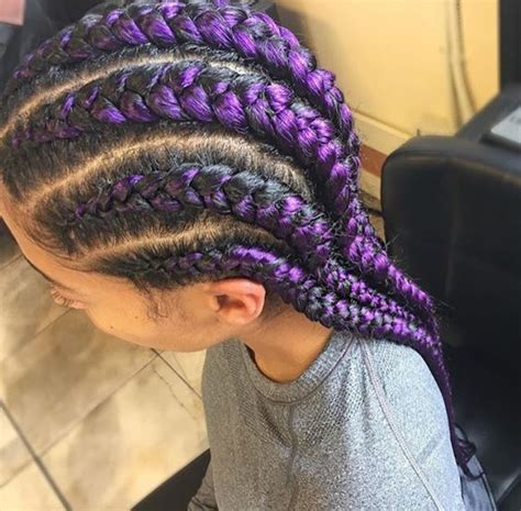 cornrow hair to buy different colour purple cornrows black hair pinterest cornrows and purple