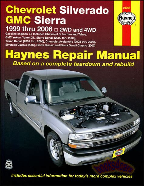 car manuals free online 2003 chevrolet tracker engine control chevrolet silverado gmc sierra shop service repair manual haynes truck chilton ebay