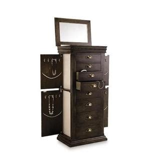 jewelry armoire sears jacobean brown jewelry armoire store your jewelry in style with sears