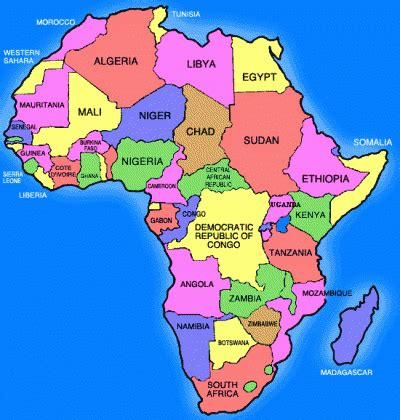 africa map for students map of africa countries maps of the world