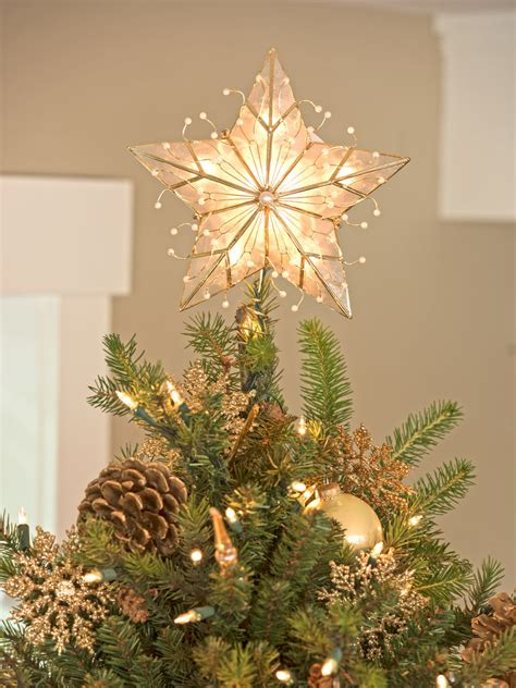 christmas tree star topper capiz star christmas tree