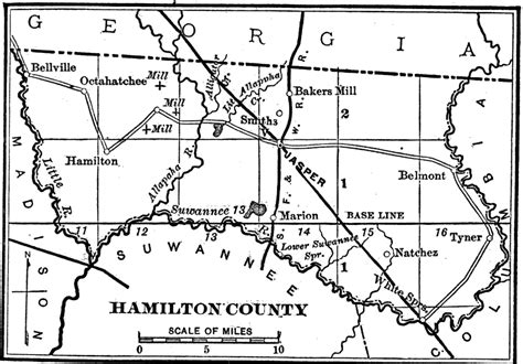 hamilton county texas map hamilton county 1890