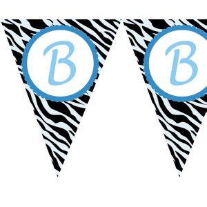 printable zebra banner printable zebra flag banner birthday party baby bridal