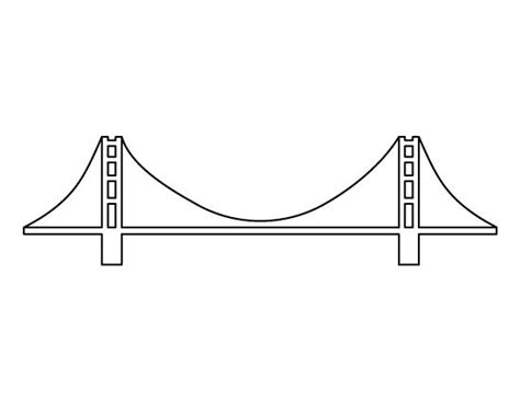 bridge pattern video golden gate bridge pattern use the printable outline for