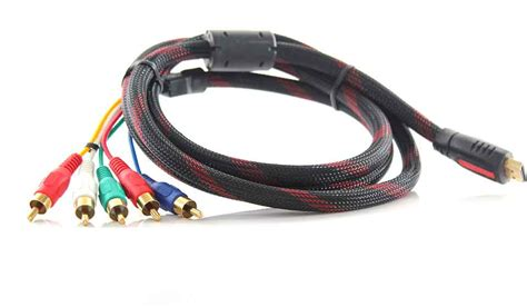 hdmi cable to component 5 53 hdmi to 5rca rgb av component cable 150cm at