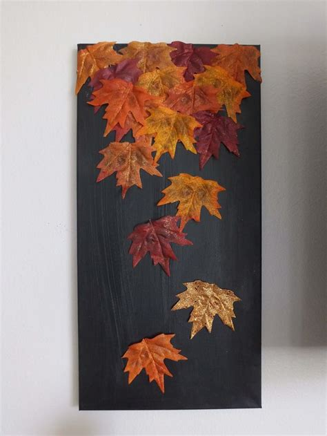 diy fall leaf canvas fall leaves leaves and canvases
