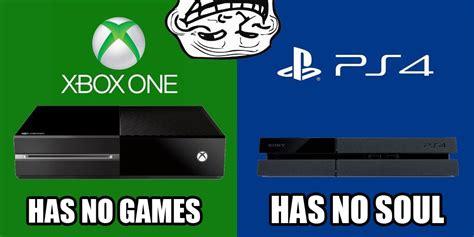 Xbox One Meme - conslole wars hilarious playstation vs xbox memes