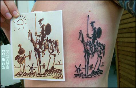 don quixote tattoo don quixote by picasso bme piercing and