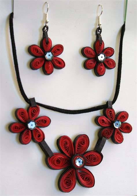 Paper Jewellery - quilled paper jewellery by equi on deviantart