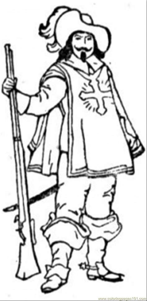 Musketeer Coloring Page - Free France Coloring Pages