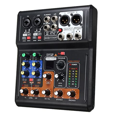 mini console dj mini 6 channels audio dj sound mixer mixing console