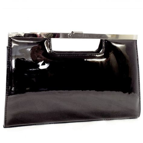 black patent clutch bag peter kaiser wye ladies black patent leather clutch bag