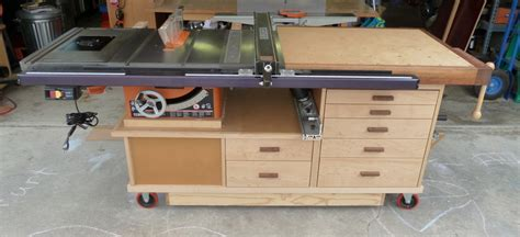 table saw cabinet plans phil s tablesaw work station the wood whisperer