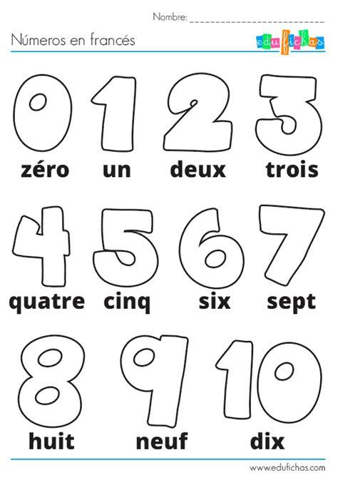 frances para ninos contar 1973743817 ficha de actividades infantiles con los n 250 meros en franc 233 s para colorear descarga fichas