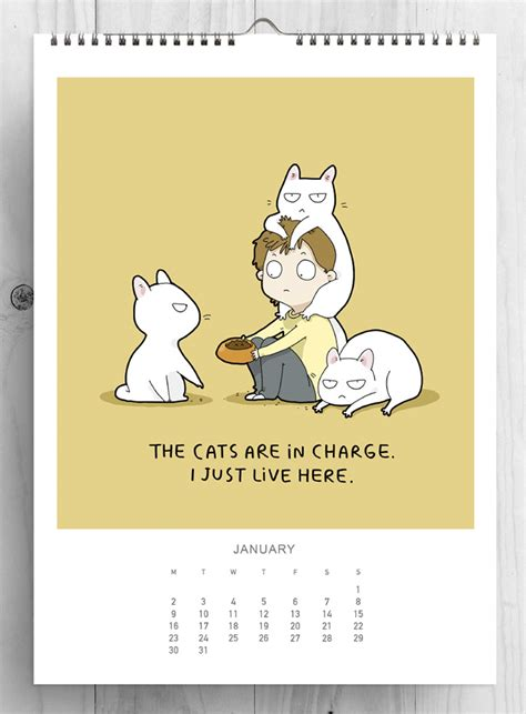 Cat Calendar I Created A Cat Calendar To Make 2017 The Most Purrfect