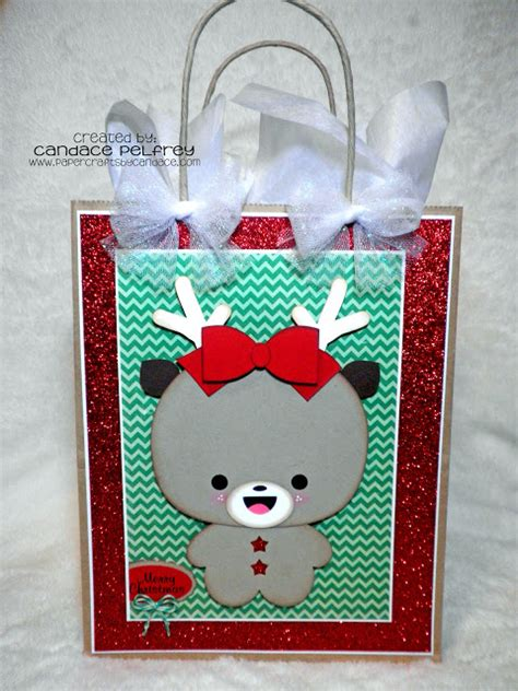 paper crafts by candace christmas bag