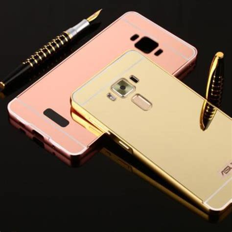 Mirror For Zenfone 3 Silver mirror aluminum bumper frame acrylic cover for asus