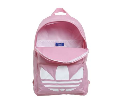 adidas classic trefoil backpack light pink adidas trefoil backpack light pink white accessories