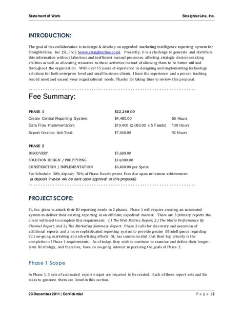 consulting sow template software project statement of work document sle