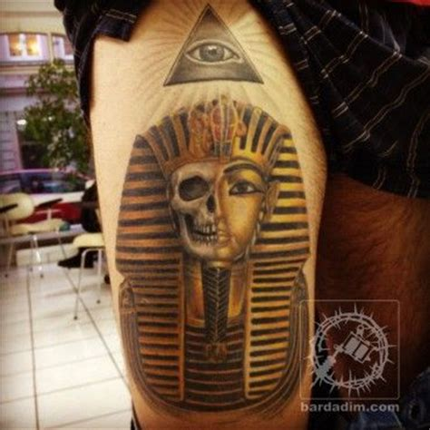 king tut tattoo design pharaoh skull skullspiration skull designs