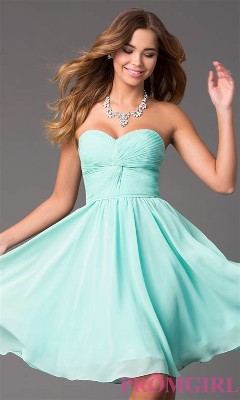 Dres Donita No 8 strapless sweetheart prom dress promgirl