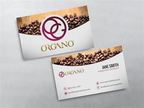 Organo Gold Business Card Template by Organo Gold Business Cards Free Shipping