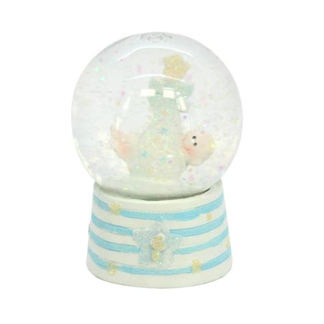 baby boy snow globe by the contemporary home