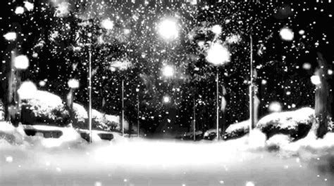 snow winter night snowing theprincessofvampires