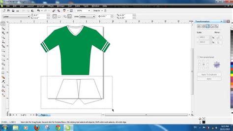 Desain Kaos Pertama tutorial coreldraw cara membuat kaos bola jersey