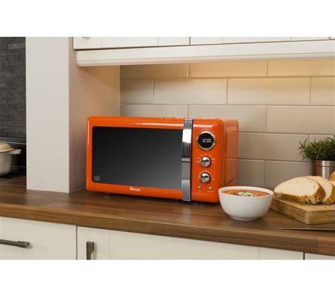 orange kitchen microwave