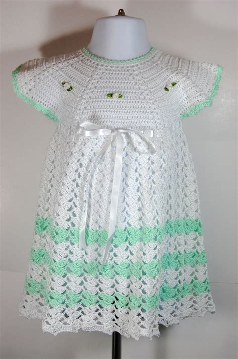 Handmade Crochet Baby Clothes For Sale - sale handmade crochet baby dress great for easter