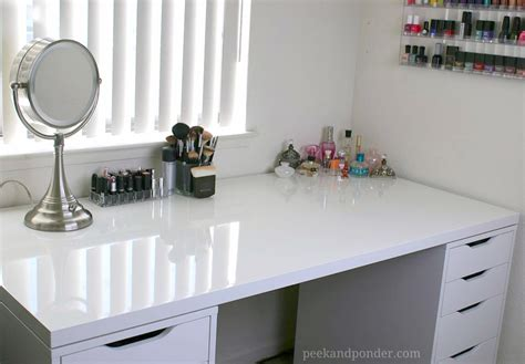 my new ikea makeup vanity diy style peek ponder