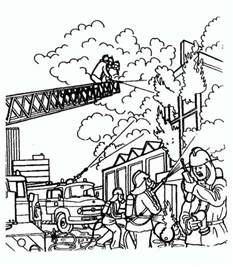 burning house coloring page search